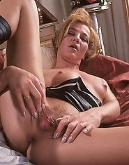 Hot MILF showing off her wet snatch
