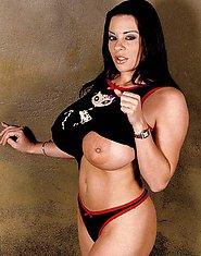Linsey Dawn in tight kitty shirt