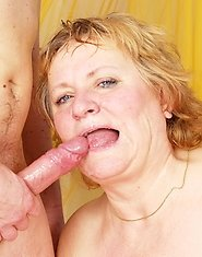Kinky mature slut playing with her toy boy