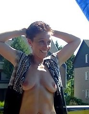 amateur wife outdoors
