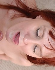Red mature housewife doing what she does best