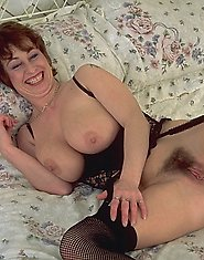 Horny housewife showing her wet cunt