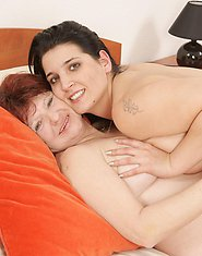 naughty older lesbian doing a hot brunette babe
